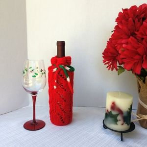 Bottle Cover Christmas Hand Crafted